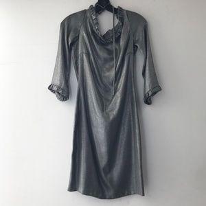 Silver open back dress